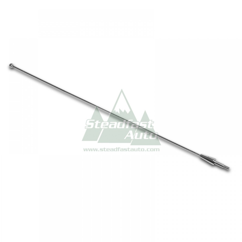 "Ford F-150 Antenna 14"" - Chrome - 1980-2008 All"