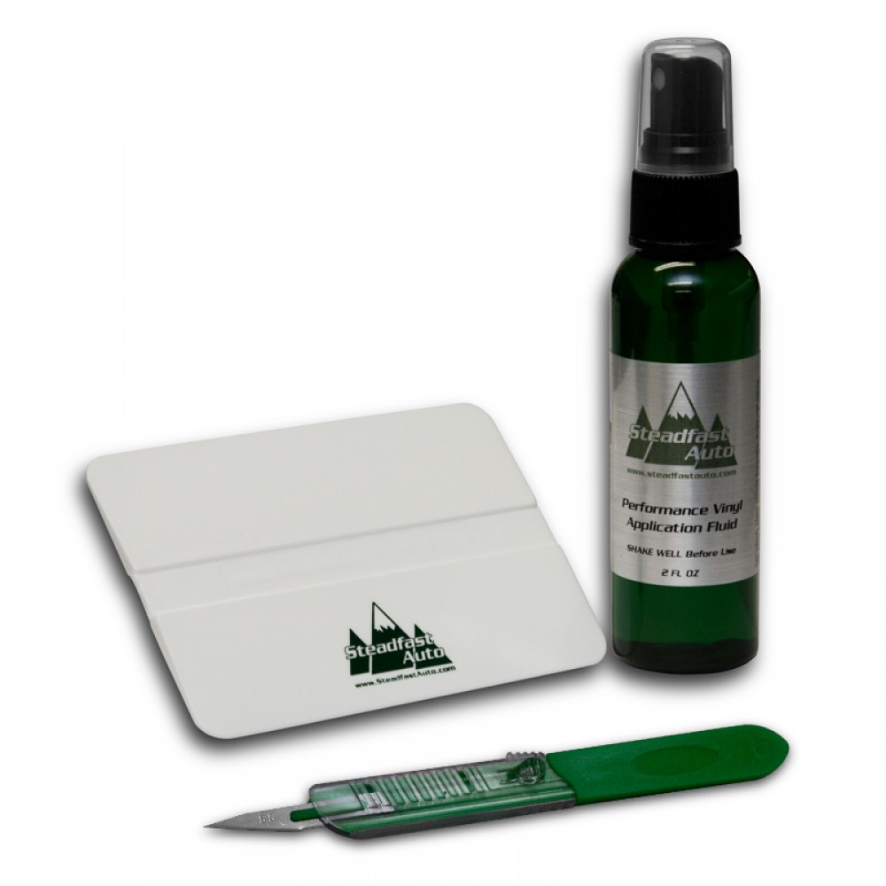 Vinyl Decal Installation Kit - Vehicle Application Fluid, Squeegee, Trim Knife