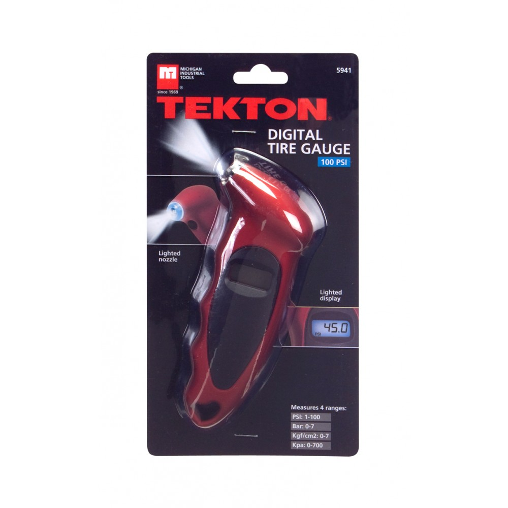 TEKTON Digital Tire Pressure Gauge